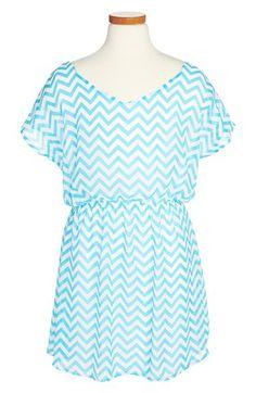 Sally Miller Chiffon Dress (Big Girls) available at Sally Miller, Chevron Dress, Girls White Dress, Little Girl Dresses, White Denim Skirt, Chiffon, Strapless Tops, Fit N Flare Dress