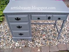 Refinished old desk (blog). This is what I want to do all the time!!!