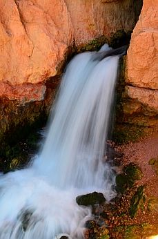 The waterfall at the end of the Cascade Falls hike in Dixie National Forest, Utah, is a icing on the cake. More: http://roadslesstraveled.us/dixie-forest-utah/  After an inspiring hike in the red rocks you come to a refreshing waterfall...