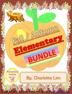 Fall / Autumn Elementary BUNDLE - My best education list Autumn Activities, Literacy Activities, Summer Activities, Creative Activities, Teacher Resources, Classroom Resources, Classroom Fun, Google Classroom, Teaching Ideas