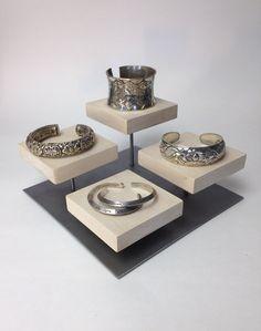 Bracelet display riser, ring display, jewelry display, craft show display, booth display, store display by UniqDisplay on Etsy https://www.etsy.com/listing/241813718/bracelet-display-riser-ring-display