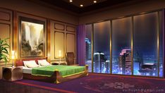 Hotel - VN Background by Vui-Huynh on DeviantArt Scenery Background, Living Room Background, Background Drawing, Cartoon Background, Episode Interactive Backgrounds, Episode Backgrounds, Royal Bedroom, Anime Places, Anime City