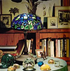Truman Capote's Tiffany Lamp and Paperweights by Need This Book, via Flickr