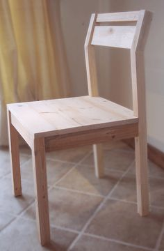 Modern Angle Chair.  i feel like i could actually build this one for the sides of the kitchen table