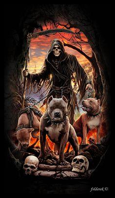 Grimreaper & Pitbull Dogs