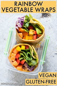 This vegan rainbow vegetable tortilla wrap. quick, tasty, easy and made by the mini chefs and their friends during a playdate. Healthy Lunches For Kids, Healthy Dinner Recipes, Healthy Snacks, Vegetarian Recipes, Vegan Wraps, Healthy Wraps, Casserole To Freeze, Gluten Free Wraps, Tortilla Wraps