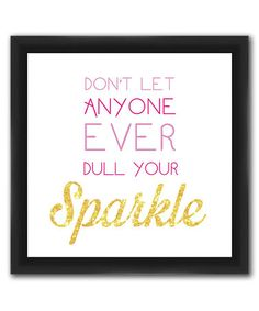 Look what I found on #zulily! 'Sparkle' Framed Giclée Print #zulilyfinds