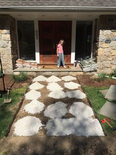 You might want to rethink your walkway when you see what this clever homeowner did!