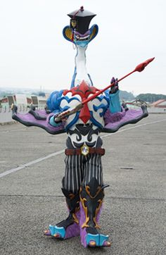 Manavil (マナビル Manabiru) is one of the many Daikaan of Space Shogunate Jark Matter who rule planet Earth. Japanese Superheroes, Monster Costumes, Special Effects Makeup, Monster Design, Fursuit, History Books, Kamen Rider, Power Rangers, Behind The Scenes