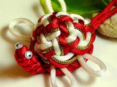 Chinese Knot Sea Turtle  red and white  as by sarahcollection