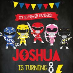 Go go Power Rangers! New invites & party printables