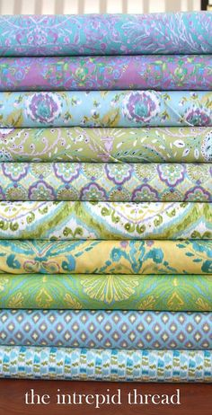 Tangier Ikat - Fat Quarter Bundle in Cool by Dena Fishbein for Free Spirit Cotton Quilt Fabric