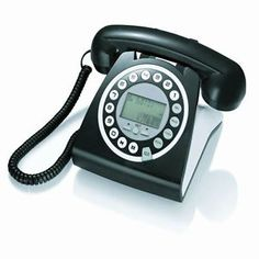 Retro vintage style digital home or works phone with caller ID
