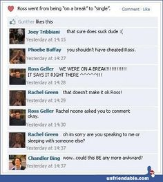 F-R-I-E-N-D-S Facebook status. It make me really happy that Gunther liked it! Haha