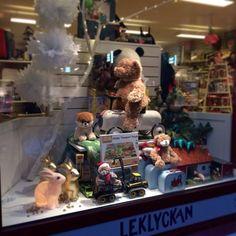 Leklyckan toy store front window, Halmstad, Sweden