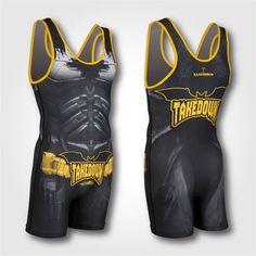 92d32fe5fd31e The Cape Wrestling Singlet - Batman