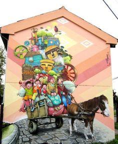 Temuco es una ciudad fundada en 1881, ubicada al centro de Chile, a 619 km de Santiago. En los últimos años se ha visto beneficiada por el arte urbano creado por el grupo de amigos conocido como: Alapinta.