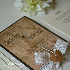 How to Make Your Invitation Stand Out; Rustic wedding