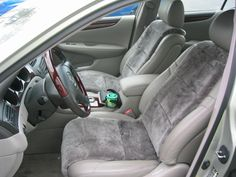 Sheepskin Seat Cover Inserts, no more cold leather seats in the winter or hot leather seats in the summer!