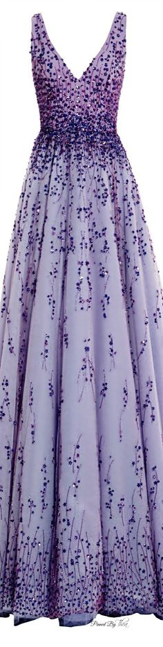 The Michaela7 Monique Lhuillier ● SS 2015, Violet Tulle Ball Gown
