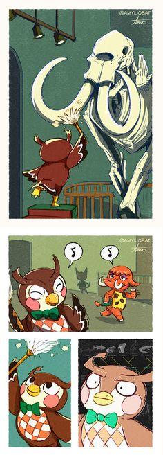Animal Crossing Fan Art, Animal Crossing Memes, Animal Crossing Villagers, Cute Comics, Funny Comics, Doremi Anime, Funny Animals, Cute Animals, Geeks