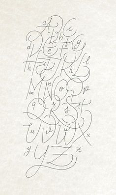 Another calligraphy Alphabet rought made with Bic Crystal Gel and digitalized                                                                                                                                                                                 More
