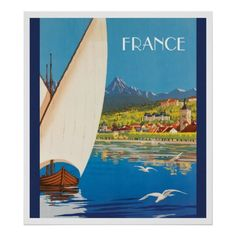 France Travel Poster - diy cyo customize create your own personalize