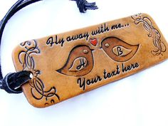 Custom Leather Luggage Tag Personalized Fly Away With by Tresijas