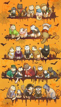 Halloween Cat Edition Hetalia..... SO CUTE!