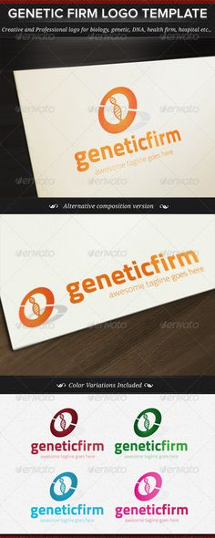 Genetic Firm Logo Template - DOWNLOAD NOW :)