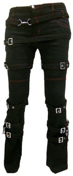 Harem Pants – Destruction SteamPunk Gothic bondage Pants – a unique product by steelalchemy on DaWanda