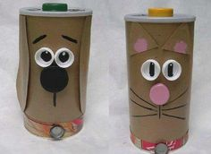 Teach little ones about recycling with these recycled crafts for kids. Find projects for kids of all ages that use aluminum cans, TP rolls, and more. Sunday School Crafts For Kids, Recycled Crafts Kids, Easy Crafts For Kids, Diy For Kids, Kids Knitting Patterns, Knitting For Kids, Free Knitting, Free Crochet, Crochet Patterns