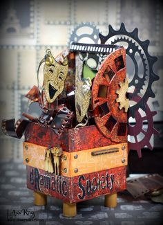 Steampunk Dramatic Society - Artist Trading Blocks Stampendous Style ~ Under a creative spell