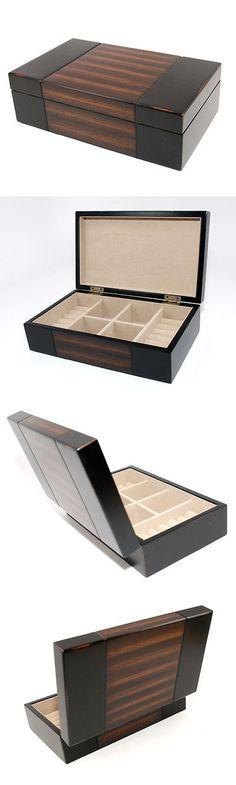Multi-Purpose 168165: Dark Walnut Wood Mens Jewelry Box Organizer New Gift -> BUY IT NOW ONLY: $53.99 on eBay!