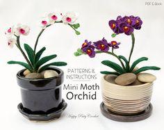 Mini Crochet Orchid Pattern Crochet Flower by HappyPattyCrochet