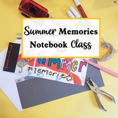 Learn to make your own summer memories notebook class with the craft corner. This precorded video class can be watched at any time and from anywhere. A great class to introduce children to the art of bookbinding. Craft Online, Online Art, Summer Memories, Craft Corner, Bookbinding, Projects For Kids, Life Lessons, Arts And Crafts, Notebook