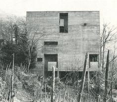 Rotalinti house in Bellinzona, Aurelio Galfetti, 1959