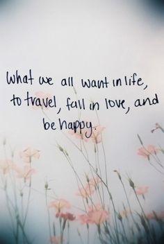 Travel. Love. Happiness.