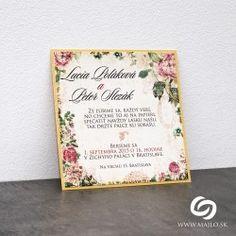 Svadobné oznámenie Antique Flowers
