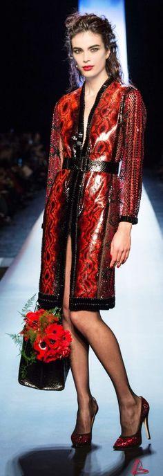 Red & Black Essence ✦ Jean Paul Gaultier ✦ https://www.pinterest.com/sclarkjordan/red-black-essence/
