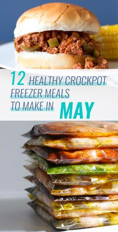 12 Healthy Crockpot Freezer Meals to Make in May. Get ready for May with crockpo… 12 Healthy Crockpot Freezer Meals Healthy Freezer Meals, Make Ahead Meals, Healthy Crockpot Recipes, Slow Cooker Recipes, Crockpot Meals, Meals To Go, Freezer Recipes, Freezer Cooking, Clean Eating Snacks