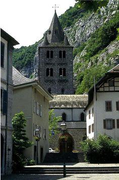 Saint Maurice, between Martigny and Aigle