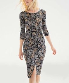 Loving this Black Tonal Floral Rosendale Dress - Plus Too on #zulily! #zulilyfinds