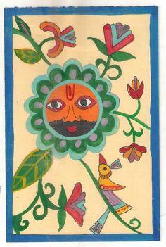 postcard painting श्यामबाबा by jaishekhar