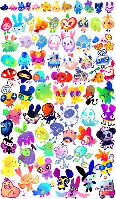 suippumato:  81 tamagotchi friends !!