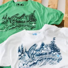 Our new Trout Tee should get you in the mood to ditch work and go fishing. Comes in white and heather grass. Available now at core surf and outdoor shops and http://www.hippytree.com/shop/t-shirts/trout-tee.html. #tuesdaystee #surfandstone