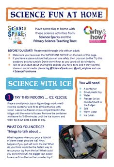 Easy Ideas for Science at Home - Science for Kids
