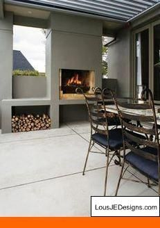 Gas Fire Pits Clearance. Tip 96227766 #outdoorfireplaces #backyardfirepits #PergolaDrawings Outdoor Areas, Outdoor Rooms, Outdoor Living, Outdoor Decor, Built In Braai, Built In Grill, Parrilla Exterior, Outside Fireplace, Simple Fireplace