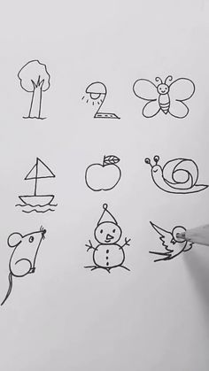 Interesting easy drawing ideas tutorial for numbers, Let's kids try it! Interesting easy drawing ideas tutorial for numbers, Let's kids try it! Easy Drawings Sketches, Easy Drawings For Kids, Pencil Art Drawings, Doodle Drawings, Drawing For Kids, Animal Drawings, Cute Drawings, Drawing Ideas, Drawing Art