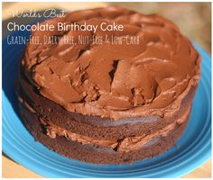 Best Grain-Free, Nut-Free and Low-Carb Chocolate Cake Recipe!